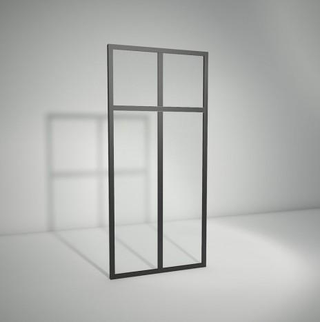 Verrière standard à vitrage fixe avec imposte – 2 panneaux (H 150 cm x L 71 cm)