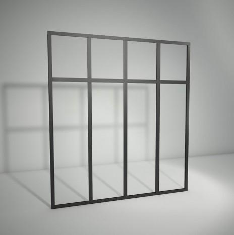 Verrière standard à vitrage fixe avec imposte – 4 panneaux (H 150 cm x L 140 cm)