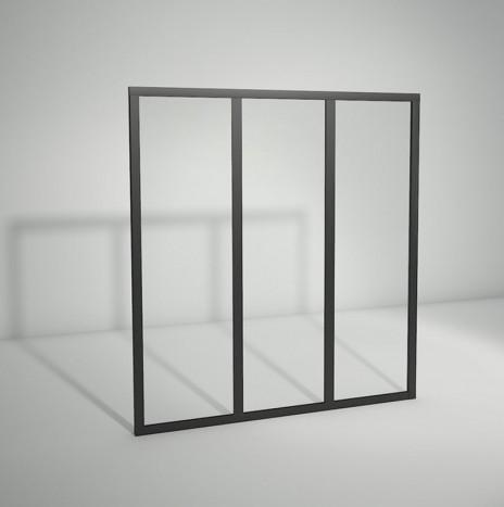 Verrière standard à vitrage fixe – 3 panneaux (H 115 cm x L 106 cm)
