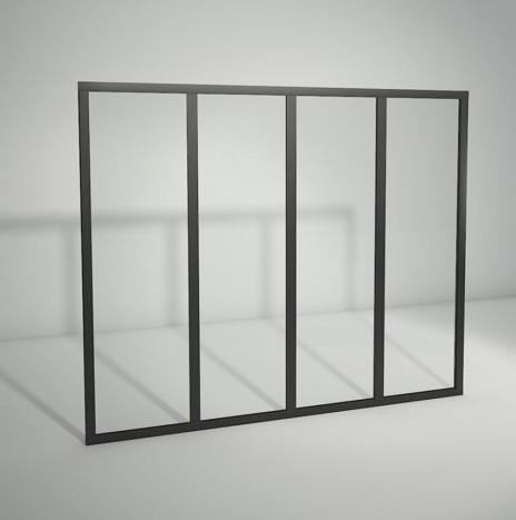 Verrière standard à vitrage fixe – 4 panneaux (H 115 cm x L 141 cm)