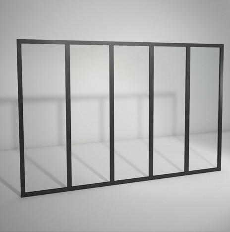 Verrière standard à vitrage fixe – 5 panneaux (H 115 cm x L 176 cm)