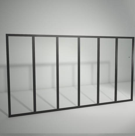Verrière standard à vitrage fixe – 6 panneaux (H 115 cm x L 211 cm)