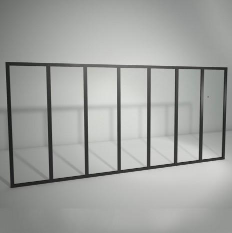 Verrière standard à vitrage fixe – 7 panneaux (H 115 cm x L 246 cm)